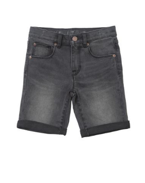 Alphabet Soup Shadow Short Washed Black