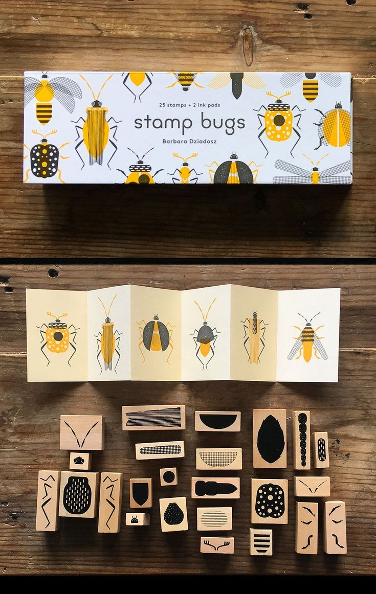 Stamp Bugs 25 Stamps + 2 Ink Pads