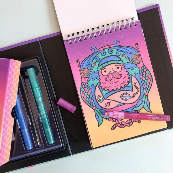 Glitter Colouring Set Ocean Dreams