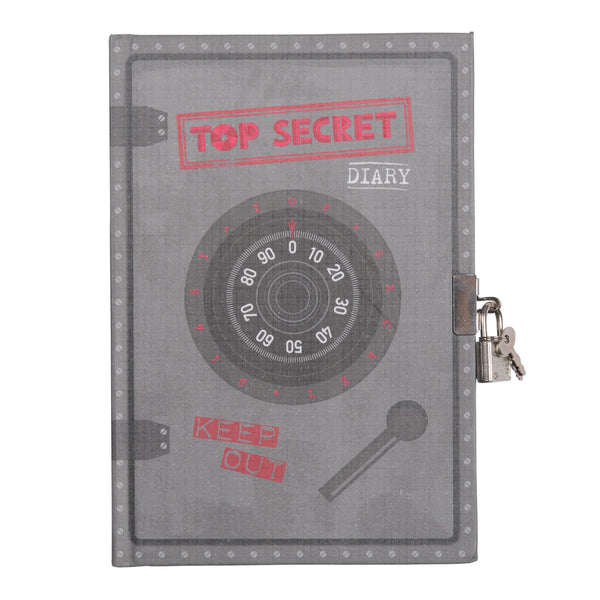 Tiger Tribe Lockable Diary Top Secret