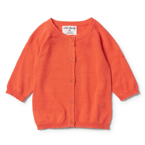 Summer Cardigan, Hot Coral