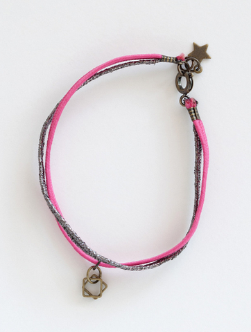 Billy Ze Kid Square Bracelet Neon Pink