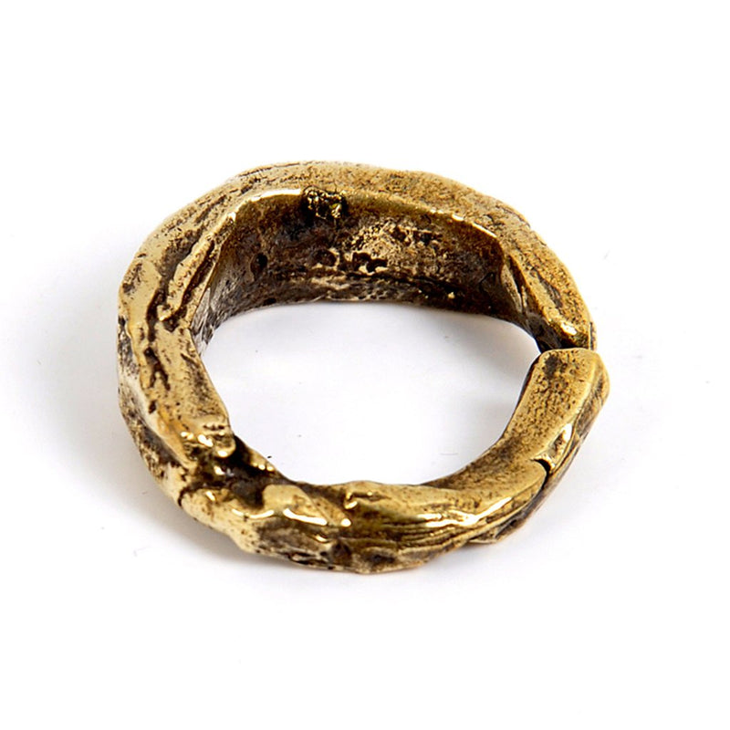 Coff Stone Ring In Antique Brass