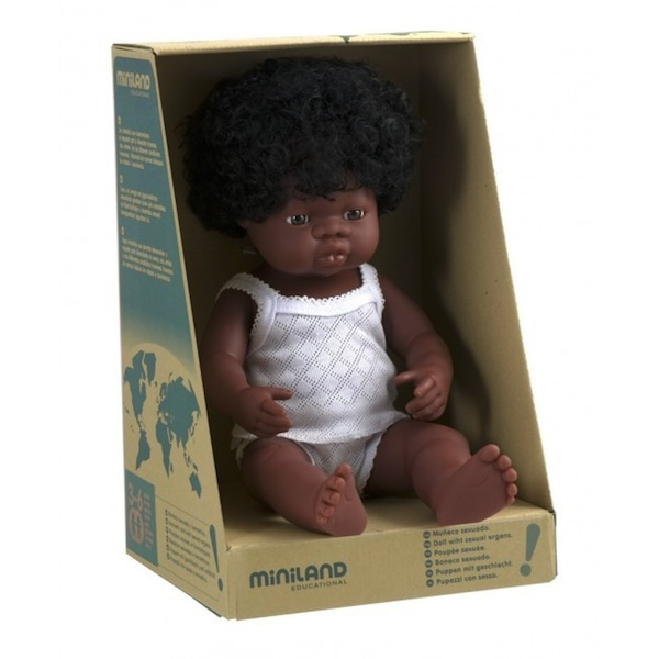 Miniland 38cm Anatomically Correct Doll African Girl