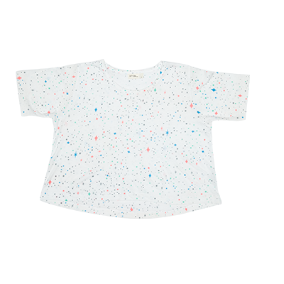 Zuttion Outer Space Crop Tee White