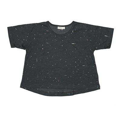 Zuttion Speckle Crop Tee Black