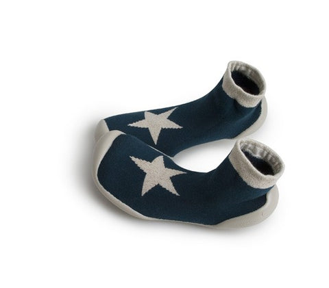 Slipper Socks White Star