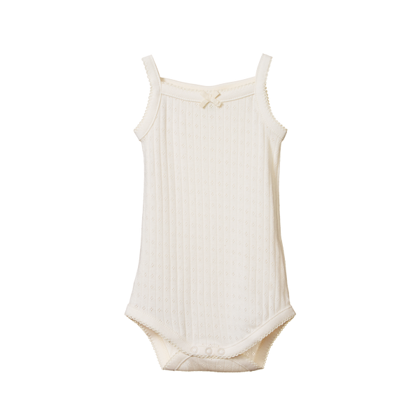 Nature Baby Camisole Bodysuit Pointelle Natural