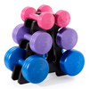 Vinyl Dumbbell 19KG Set with Stand