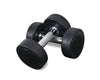 TZ Black Rubber Dumbbell (Pairs)