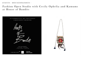 Fashion Open Studio X Cecily Ophelia at 'House of Bandits'!