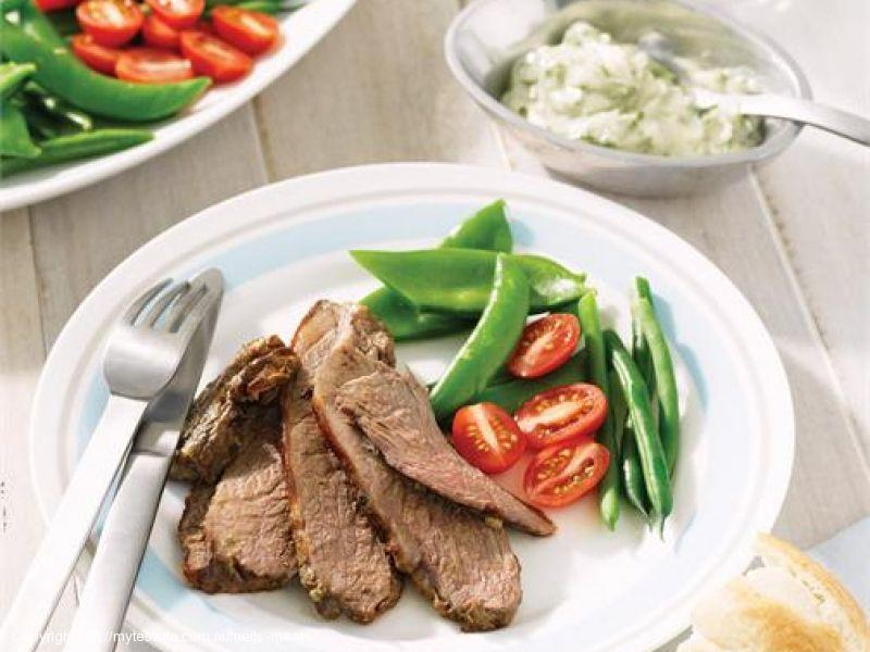 Barbecued Butterflied Lamb Leg with Herb Mayonnaise