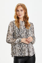 Load image into Gallery viewer, Culture ($99.00) Devina Python Print Blouse