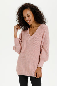 Kaffe Cozy Candy Pink Pullover