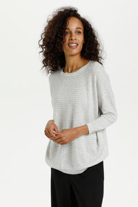 001 Kaffe ($60.00) Hally Light Grey Pullover