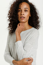 Load image into Gallery viewer, 001 Kaffe ($60.00) Hally Light Grey Pullover