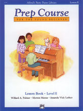 Alfred's Basic Piano Prep Lesson Book E