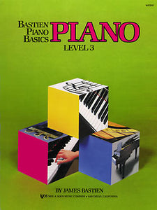 Bastien Piano Basics Level 3 Piano Book