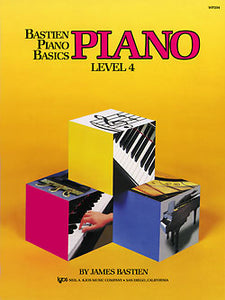 Bastien Piano Basics Level 4 Piano Book