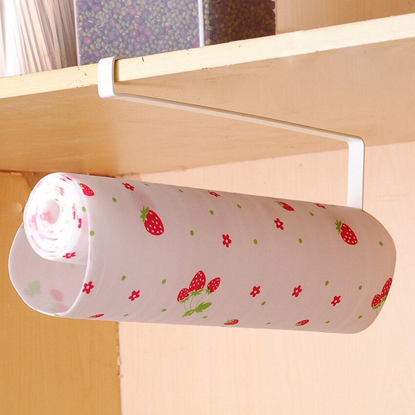 new arrival Kitchen Paper Towel Holder Cabinet Hanger Kitchen Bathroom Organzier accessories Shelf Roll Storage Rack