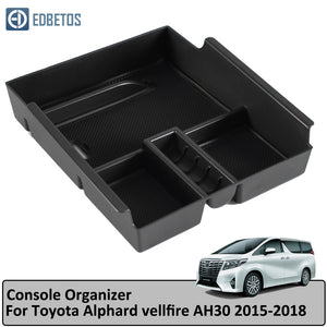 Armrest Storage Box for Toyota Alphard vellfire AH30 2015- 2017 2018 Central Console Organzier Stowing Tidying