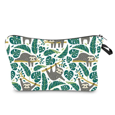 Women's Printed Waterproof Cosmetic Bag for Make-up Casual Organzier Clutch Bag Multi-function Female Small Travel Storage Totes