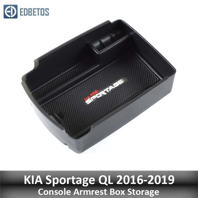 For Kia Sportage KX5 QL AT LHD 2015 2016 2017 2018 2019 2020 Armrest Storage Box Console Organzier Stowing Tidying Storage Tray