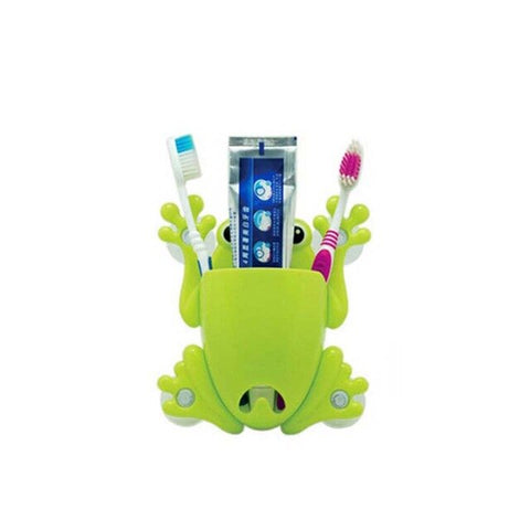 Wall Mount Sucker Toothpaste Cute Cartoon Toothbrush Holder Bathroom Sucker Toothbrush Storage Organzier Accessories