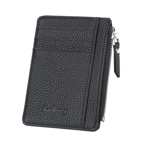 New Card Holder Women Soft Leather Key Chain Bag Small Card Wallets Female Organzier Mini Credit Card Case Zipper Coin Bags