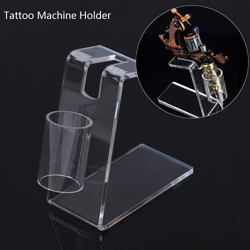 Transparent Professional Tattoo Machine Holder Stand Acrylic Tattoo Gun Supply Stand Rack Rest Organzier Accessory for Tattooist