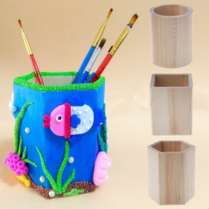 Creative Desk Organzier Bamboo Made Desk Stationery Organizer Pen Pencil Case Holder Storage Box Case Square Container