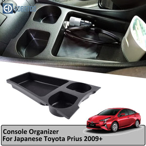 For Toyota Prius Cup Holder Armrest Storage Box Zvw30/35 2009-2015 Central Console Organzier Stowing Storage Coin Cup Holder