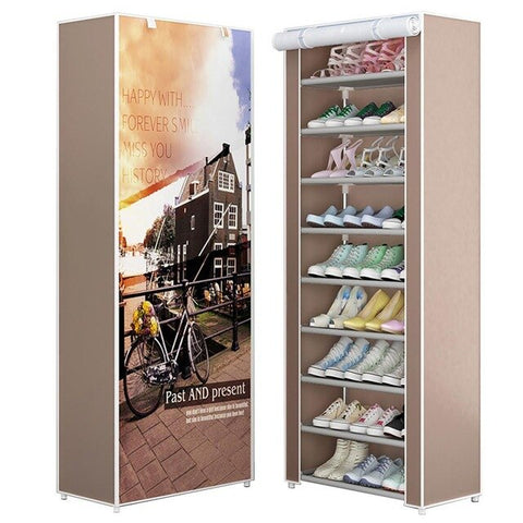 Shoe Racks Organzier Non-Woven Fabric Shoe Storage Organizer Cabinet for Home