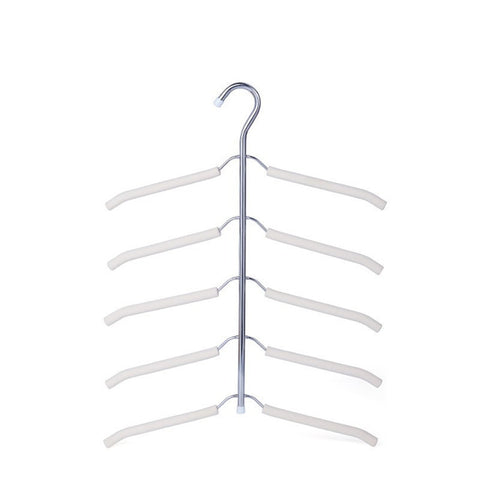 1PC Stainless Steel Clothes Hanger Flocked Non-Slip Scarf Shawl Clothes Finishing Hanger Home Organziers Tie Belt Rack & Holder