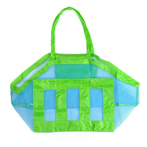 DIDIHOU Foldable Portable Beach Kids Toys Bag Children Mesh Storage Bags Beach Toy Pouch Baskets Toys Tote Mesh Organzier Bags