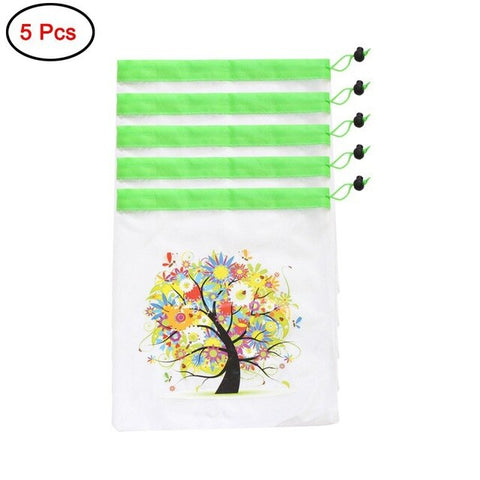 Mesh Home Reusable Bags Packs Organzier Bag Handbag Vegetable Fruit Toys Storage Pouch Rope Double-Stitched Grocery Organizer H1