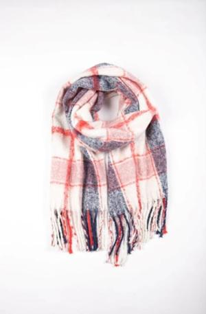 Polar Check scarf - pink multi
