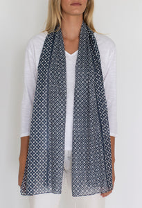 Retro scarf - navy