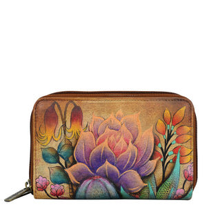 Leather Wallet by Anuschka, Hand Painted Gifts and more, succulent floral