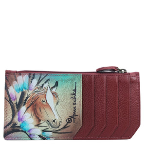 RFID Blocking Card Case with Coin Pouch - 1140