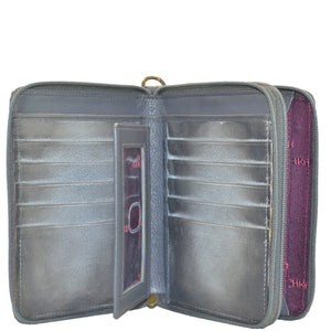 Zip Around Organizer RFID Clutch Wallet - 1143