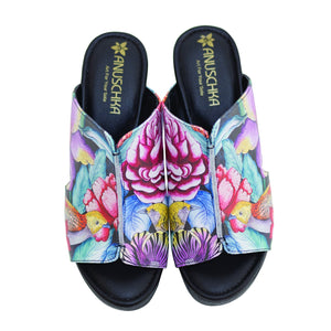 ANAYA PRINTED LEATHER COMFORT SLIDE - 4203