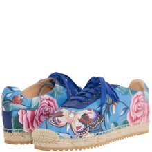 Load image into Gallery viewer, DIYA PRINTED LEATHER LACE UP ESPADRILLE - 4207