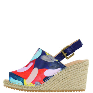 MAYA PRINTED LEATHER ESPADRILLE WEDGE - 4212