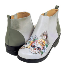 Load image into Gallery viewer, RACHEL PRINTED LEATHER CLOG BOOTIE - 4224