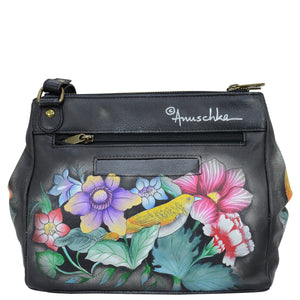 Triple Compartment Medium Crossbody With Adjustable Strap - 525