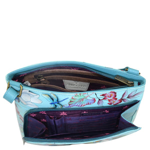 Crossbody With Front Zip Organizer - 651