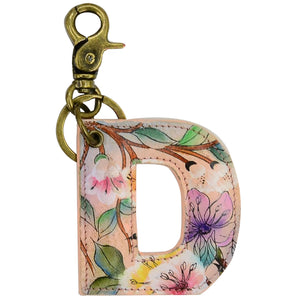 Painted Leather Bag Charm - K000D