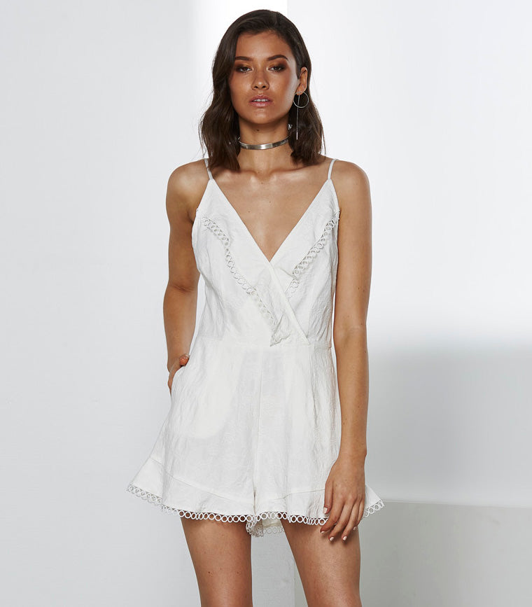 FINAL SALE - Frontier Ruffle Romper