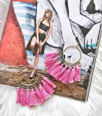 Tahiti Earrings - Pink